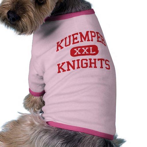 Kuemper - caballeros - católico - Carroll Iowa Camiseta Con Mangas Para Perro
