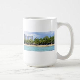 Kuhio Beach at Waikiki, Oahu, Hawaii Coffee Mug