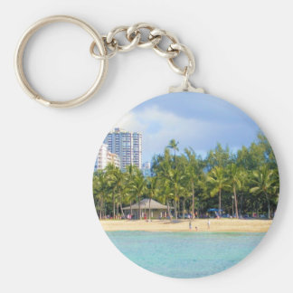 Kuhio Beach at Waikiki, Oahu, Hawaii Keychain