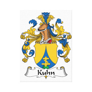 Kuhn Family Crest Gallery Wrap Canvas
