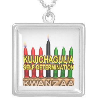 Kujichagulia Square Pendant Necklace