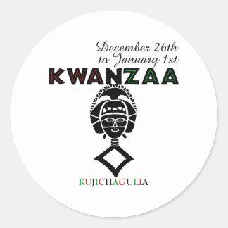 Kujichagulia - Self Determination Classic Round Sticker