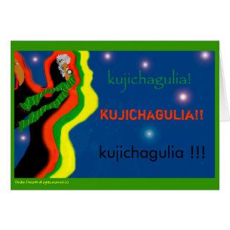 kujichagulia tarjeta de felicitación