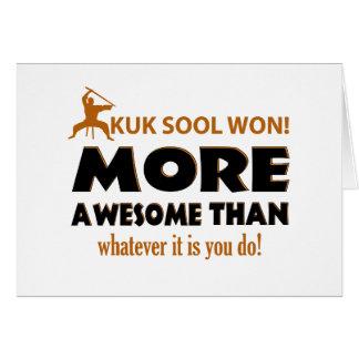 Kuk Sool ganó artículos del regalo de los artes ma Tarjeta De Felicitación