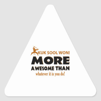 Kuk Sool ganó artículos del regalo de los artes Pegatina Triangular