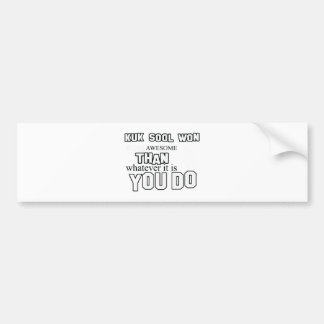 kuk sool won design bumper sticker