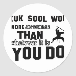 kuk sool won design classic round sticker