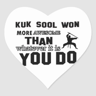 kuk sool won design heart sticker