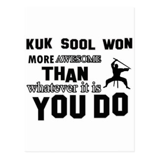 kuk sool won design postcard