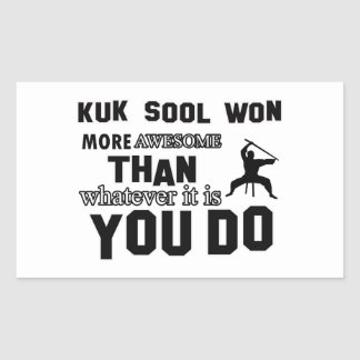 kuk sool won design rectangular sticker