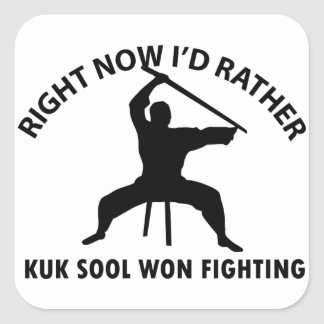 kuk sool won design square sticker