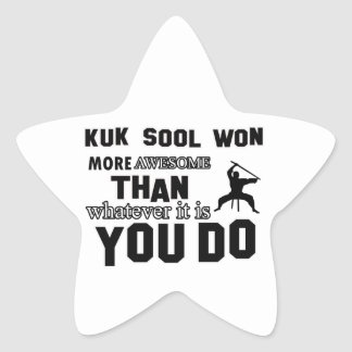 kuk sool won design star sticker