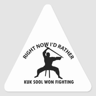 kuk sool won design triangle sticker