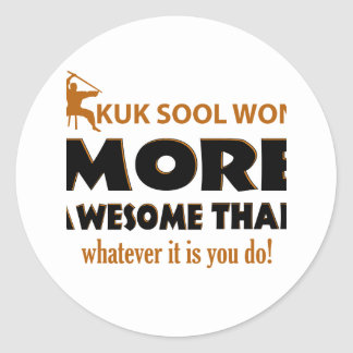 KUK SOOL WON designs Classic Round Sticker