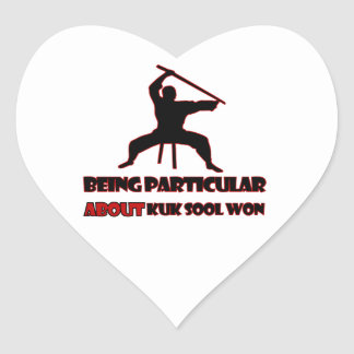 Kuk Sool Won Designs Heart Sticker
