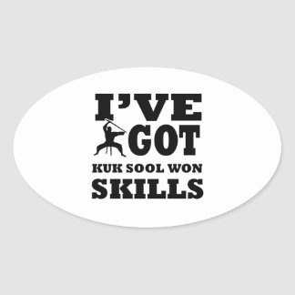 Kuk Sool Won Martial Arts designs Oval Sticker