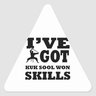 Kuk Sool Won Martial Arts designs Triangle Sticker