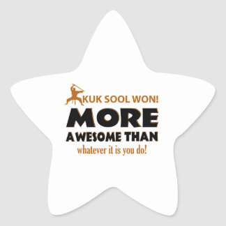 Kuk Sool Won Martial arts gift items Star Sticker