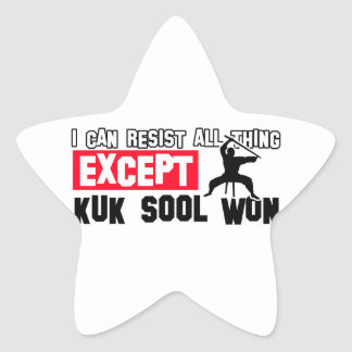 kuk sool won martial design star sticker