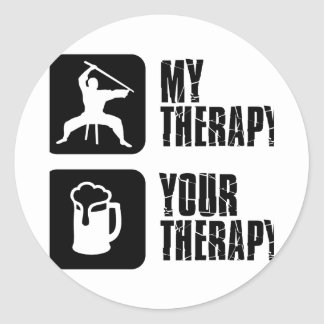 Kuk-Sool-Won my therapy Classic Round Sticker