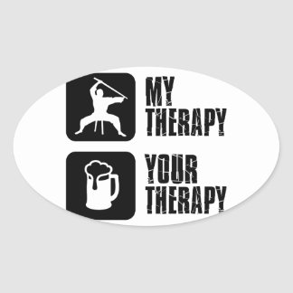 Kuk-Sool-Won my therapy Oval Sticker