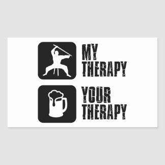Kuk-Sool-Won my therapy Rectangular Sticker
