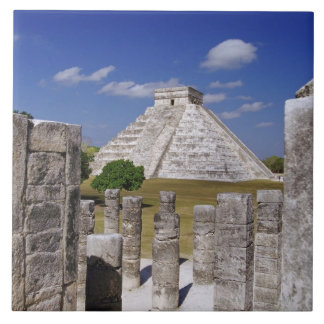 Kukulcan Pyramid as seen from the Group of the Ceramic Tile