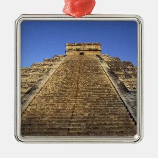 Kukulcan Temple or Castillo Castle) in 2 Metal Ornament