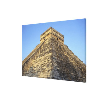 Kukulcan Temple or Castillo Castle) in Canvas Print