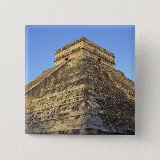 Kukulcan Temple or Castillo Castle) in Pinback Button