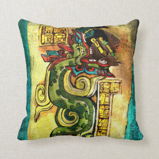 KUKULKAN MAYAN GOD OF CREATION THROW PILLOW