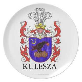 KULESZA FAMILY COAT OF ARMS FAMILY CREST PLATE