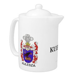KULESZA FAMILY COAT OF ARMS FAMILY CREST TEAPOT