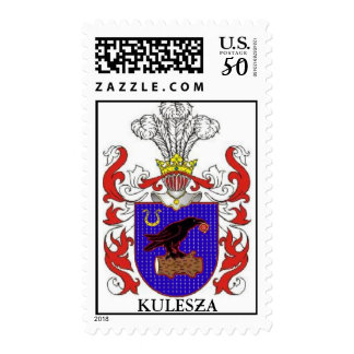 KULESZA FAMILY CREST COAT OF ARMS POSTAGE