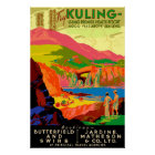 Kuling Vintage Chinese Travel Poster. Poster