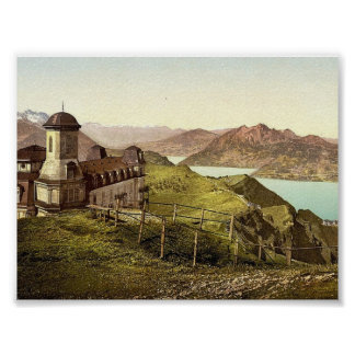 Kulm and Pilatus, Rigi, Switzerland vintage Photoc Print