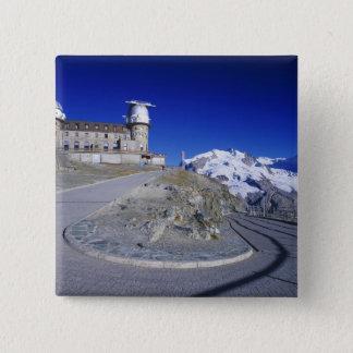 Kulm hotel and trail, Gornergrat, Zermatt, Button