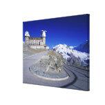 Kulm hotel and trail, Gornergrat, Zermatt, Gallery Wrapped Canvas