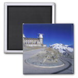 Kulm hotel and trail, Gornergrat, Zermatt, Refrigerator Magnet