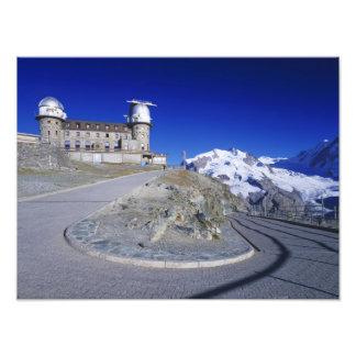 Kulm hotel and trail, Gornergrat, Zermatt, Photo Print