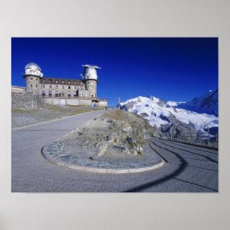 Kulm hotel and trail, Gornergrat, Zermatt, Poster