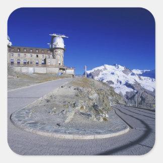 Kulm hotel and trail, Gornergrat, Zermatt, Square Sticker