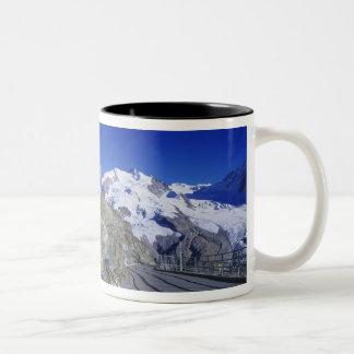 Kulm hotel and trail, Gornergrat, Zermatt, Two-Tone Coffee Mug