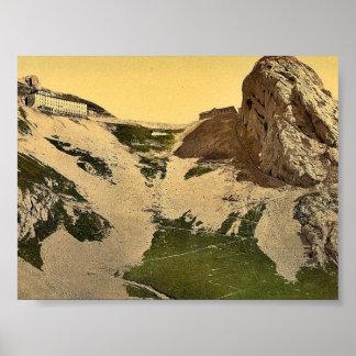 Kulm y Esel Pilatus vintage Photoc de Suiza Impresiones