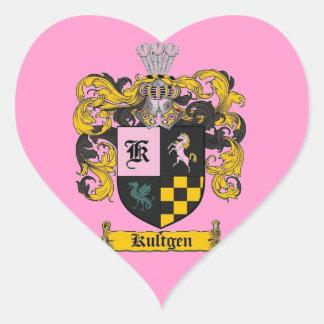 kultgen crest gifts heart sticker