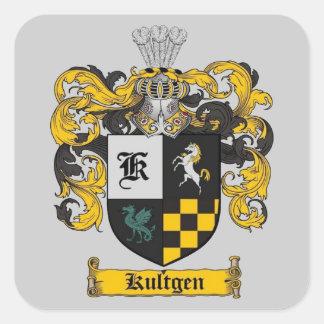 kultgen crest gifts square sticker