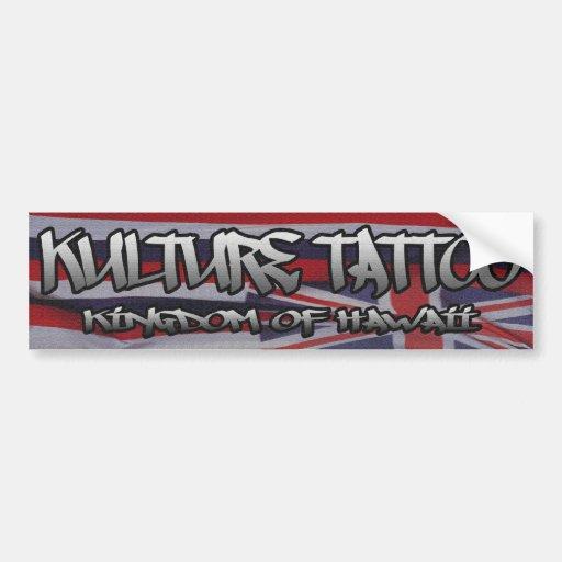 Kulture Tatto Etiqueta De Parachoque