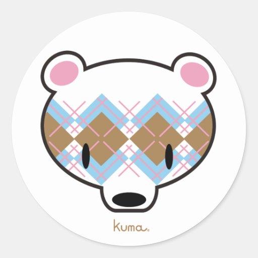 Kuma-chan in aaargyle sticker