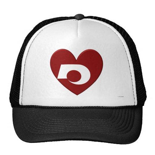 Kumamoto Prefecture Flag Heart Mesh Hat