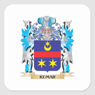 Kumar Coat of Arms - Family Crest Square Sticker